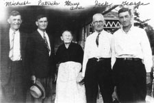 Michael, Patrick, Mary Anne (Vickers), Jack and George Hennessy, Blackville, New Brunswick, 1940s.